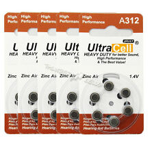 30pcs (5 Packs) Zinc Air Hearing Aid Battery 1.4V 312 A312  B3124  B347PA DA312H