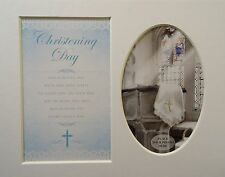 """Boy Chritening ""Keepsake photo mount to fit 8"" x 10"" Bedroom Living Room Home"