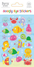 *Porta Craft * Embossed Stickers Googly Eye Fish