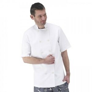 Rubber Button Chef Coat  Catering Coat and Jacket Kitchen Staff Restaurant