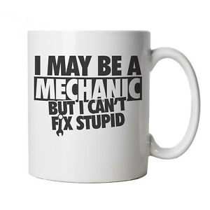 I May Be A Mechanic, But I Can't Fix Stupid, Funny Mug, Gift for Him Dad