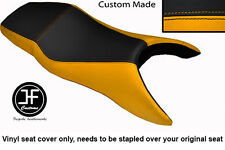 YELLOW AND BLACK VINYL CUSTOM FITS HONDA CBR 600 F 99-08 F DUAL SEAT COVER ONLY