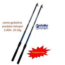 2 cannes garbolino 2.40m 20-60g Predator < port gratuit > stock limité