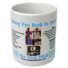 1953 Year In History Coffee Mug Includes Gift Box Born In 1953 Birthday ( Blue )