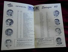 1960 Radio Station Music Survey KYA 1260  San Francisco
