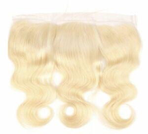 10A Brazilian 100% Virgin Remy Human Hair 4x4 Lace Black 613 Blonde Closure 13x4