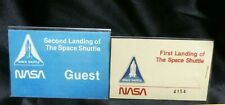 STS-1 FIRST LANDING SPACE SHUTTLE COLUMBIA BADGE & STS-2 GUEST BADGE NASA