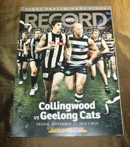 AFL Record First Preliminary Final Friday Sept 17 2010  MCG