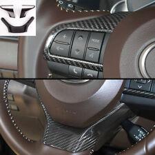 Carbon Fiber Steering Wheel Trim For Lexus ES GS RX LX570 ES350 RX350 2015-2018