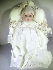 Gerber Baby Doll In Basket White In Christening Gown 1981