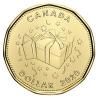 New Canada $1 Special Dollar Coin Loonie! 2020 Birthday, UNC