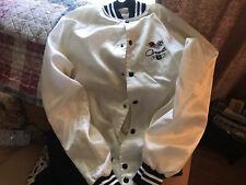 Vintage Satin Button Up Jacket AC Delco Corvette GM Auburn Sportswear Medium