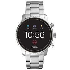 Orologio Smartwatch da Uomo Fossil Q Explorist HR FTW4011 in acciaio grigio