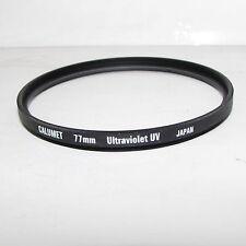 Genuine Calumet Ultraviolet UV 77mm Lens Filter Made in Japan O30138
