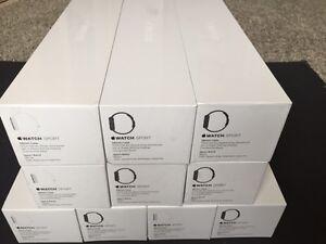 Apple Watch Sport 38mm Space Gray Aluminum Case Black Sport Band MJ2X2LL/A _ NEW