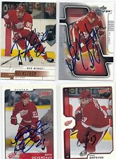 2001 Victory #130 Boyd Devereaux Detroit Red Wings Signed Autographed Card
