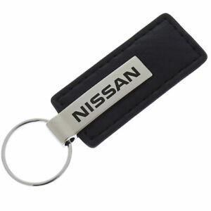 Nissan Carbon Fiber Leather Keychain (Black)