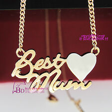 18k Yellow White Gold GF Necklace Pendant Suprise Mum Mother's Day Gift Daughter