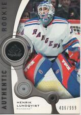 2005-06 SP GAME USED - HENRIK LUNDQVIST ROOKIE CARD! 406/999