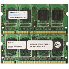 Simpletech 1GB (2x 512MB) PC2-5300 DDR2-667MHz CL5 200-pin SoDimm Memory Mobile