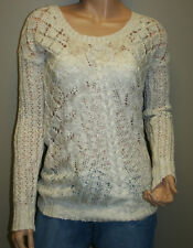 Women's Knitted Sweater, See-Through Top, White-Off Color, Size S