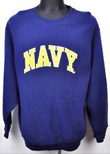 STEVE & BARRYS Men's Sweatshirt Large Jumper Navy Cotton Sweater L Crew Neck Top