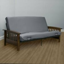 Encasement Box Cushion Futon Slipcover - Gray