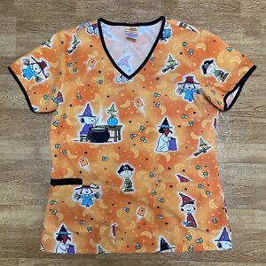 Peanuts HALLOWEEN Charlie Brown Scrubs women XS Top- Snoopy Costume