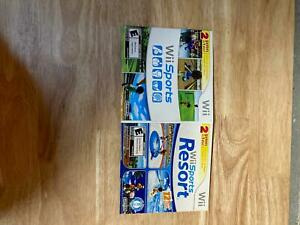 NO GAME Wii Sports Resort and Wii Sports 2 in 1 Nintendo Wii Cardboard Case only