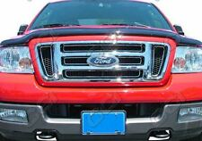 2004-2008 Ford F150 Bar Style Overlay Chrome Grille Insert Grill GI-18 Imposter