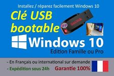 Clé USB bootable installation de Windows 10 - Français ou international