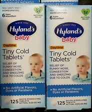 (2) Hyland's Baby Homeopathic Tiny Cold Tablets 125 Tablets (250 tablets total)