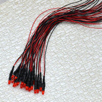 20 pcs Pre Wired 3mm Red Auto Flashing LEDs Pre-Wired resistor for 12V - 16V