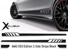 Mercedes Benz AMG Edition 1  Side Stripes Vinyl Decal Stickers Black