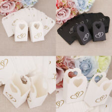 100pcs Double Hearts Candy Bags Gift Boxes for Wedding Birthday Engagement