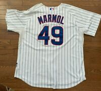 Carlos Marmol Chicago Cubs Authentic Cool Base Jersey Vintage 2008 Size 56 XXXL