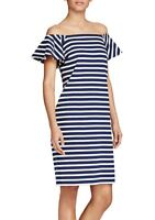 NEW Ralph Lauren Striped Off-the-Shoulder Cotton Dress / Платье. Size M.