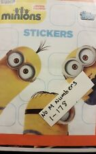 MINIONS STICKERS X178 ( 1-178 NO M NUMBERS)