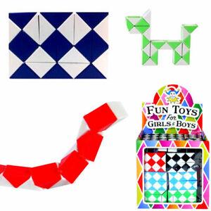 SNAKE PUZZLE MINI MAGIC CUBE TWIST FIDGET TOY BOYS GIRLS PARTY BAG FILLERS