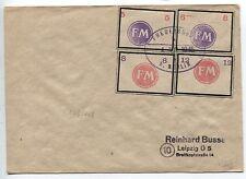 Lokalausgabe Fredersdorf Sp 246-249 auf Brief nach Leipzig BPP-geprüft (B05020)