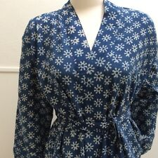 New Ladies Cotton Robe / Dressing Gown Size S/M