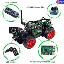 Smart Video Car Kit for Raspberry Pi with Android App Compatible RPi 3, 2, 1