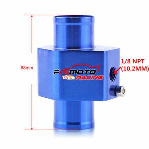 "BLUE 30mm 1.2"" Water Temperature Joint Pipe Sensor Gauge Radiator Hose Adapter"