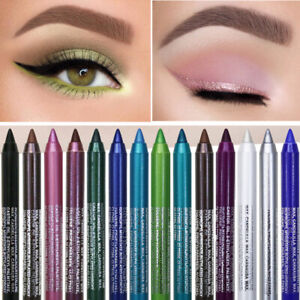 Eyeliner Pencil Matte Glitter Waterproof Eye Shadow Lips Liner Makeup Gel Pen CA