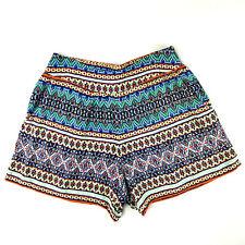 Maurices Womens Shorts Short Flowy Elastic Waist Boho Rayon Multicolor Size S