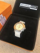 Insignum Premium Axis D11-13 White Face White Rubber Strap Watch 1 Of 499