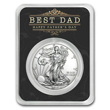 2018 1 oz Silver American Eagle - Happy Father's Day - Best Dad - SKU#161025