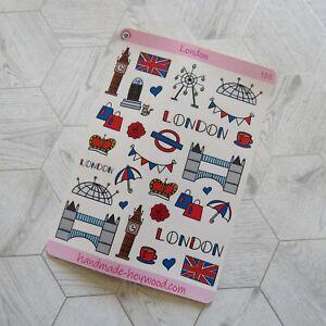 London - Planner Stickers - Glossy Sticker Paper
