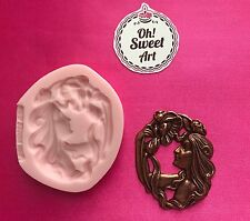LADY CAMEO VINTAGE  Silicone Mold Food Cake Decoration Candy Cupcake (FDA)