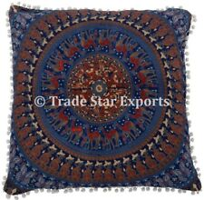 "Indian Mandala Euro Sham Cushion Cover 26X26"" Large Square Throw Pillow Case"